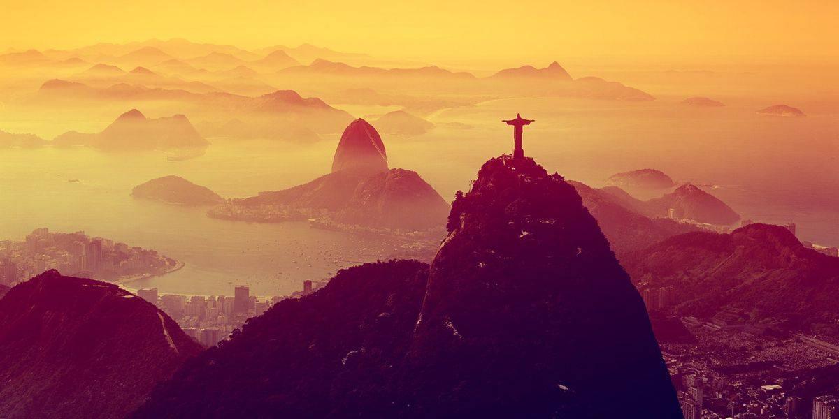 Paisaje de Río por la tarde