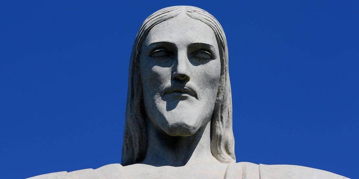 El rostro de Cristo Redentor.