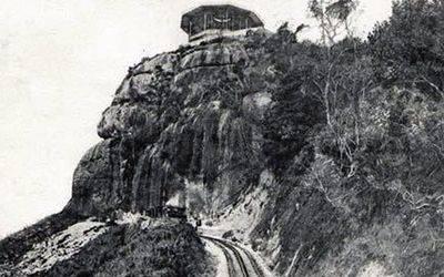 La línea ferroviaria a principios del siglo XX.