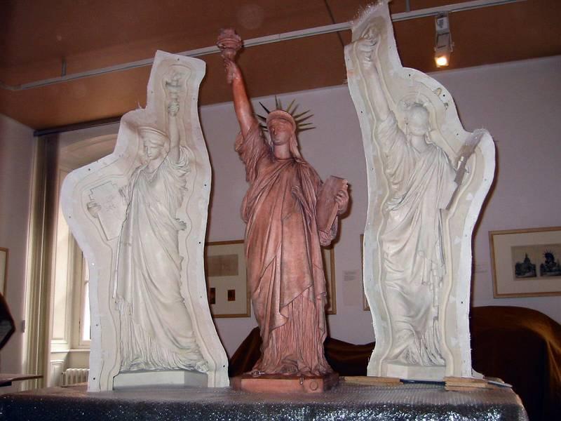 El molde de la estatua de la libertad