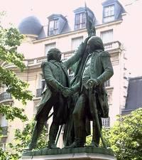 Estatuas de Lafayette y Washington, París