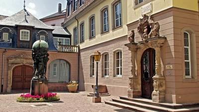 La entrada del museo Bartholdi, en Colmar