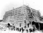 Construcción de pedestal
