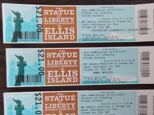 Boletos de acceso a la Estatua de la Libertad