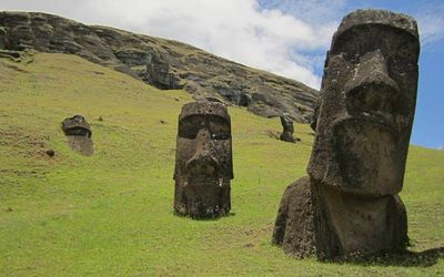 Moais of Easter Island Easter Island