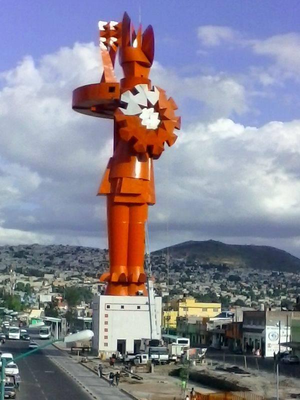 El guerrero Chimalli, en Chimalhuacan (México)