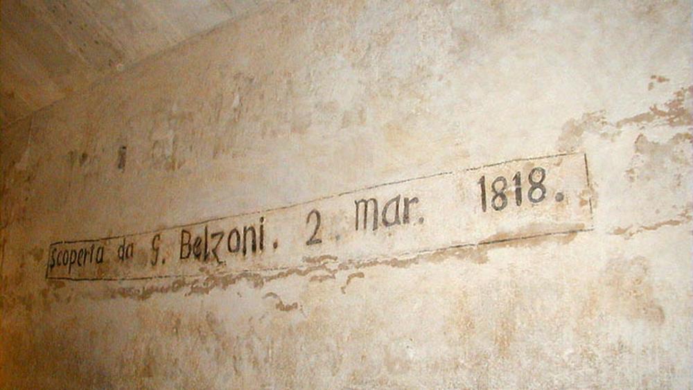 Inscripción de Belzoni