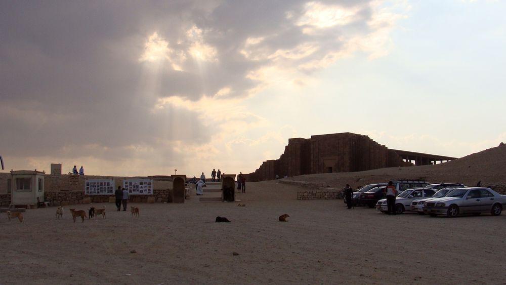 Instalaciones para visitar Saqqara