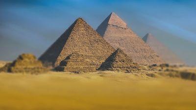 Las tres pirámides de Guiza