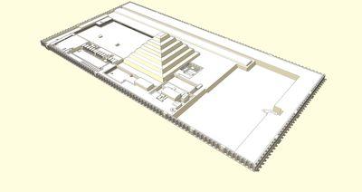 Diagrama del complejo funerario Zoser (vista noroeste)