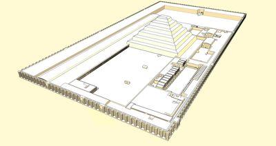 Diagrama del complejo funerario Zoser