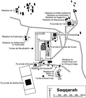Plano de las tumbas principales (Click para ampliar)