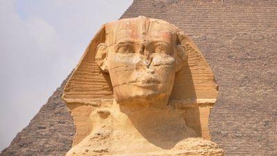 El rostro de la Esfinge de Egipto