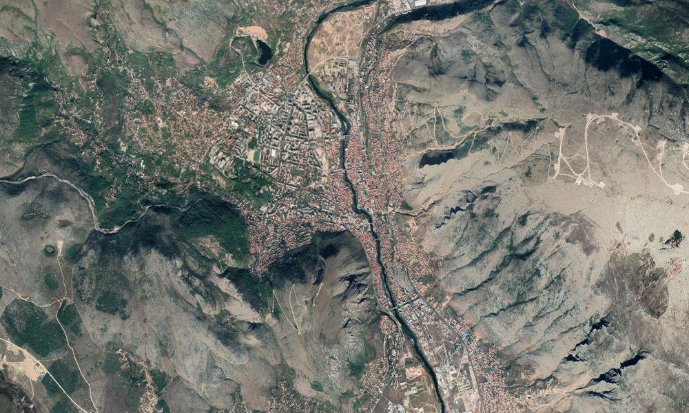 Vista aerea de Mostar