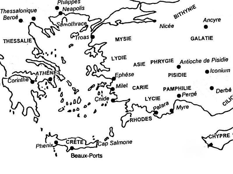 Mapa de Caria