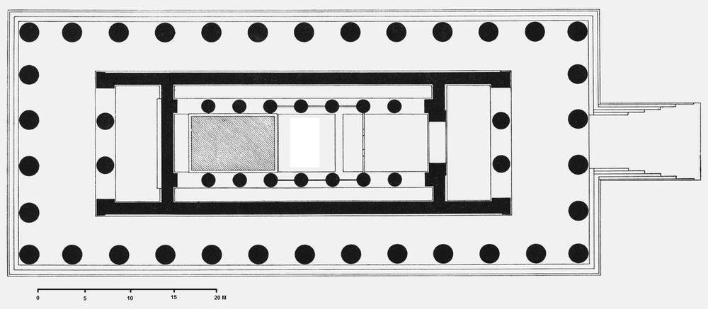 Plano del templo de Zeus