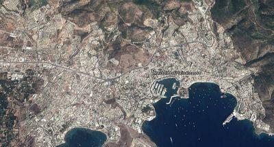Vista aérea de Bodrum