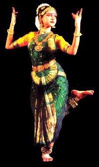 Bailarín de bharata natyam