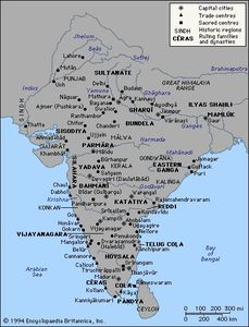 Mapa de Delhi Sultanate