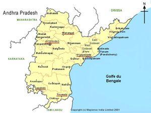 Mapa de Andhra Pradesh