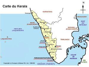 Mapa de Kerala