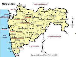 Mapa de Maharashtra