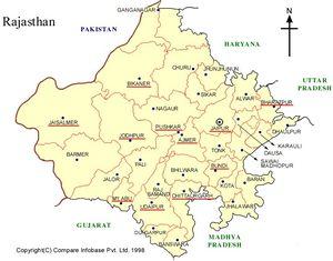 Mapa de Rajastán