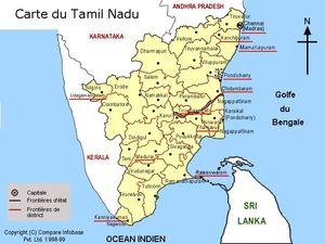 Mapa de Tamil Nadu