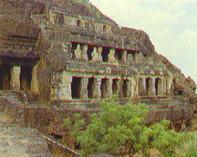 Los templos de la cueva de Undavalli
