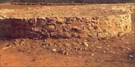 Las ruinas del fuerte de Ajatshatru