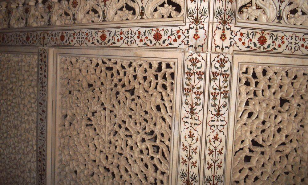 Balaustrada dentro del Taj Mahal