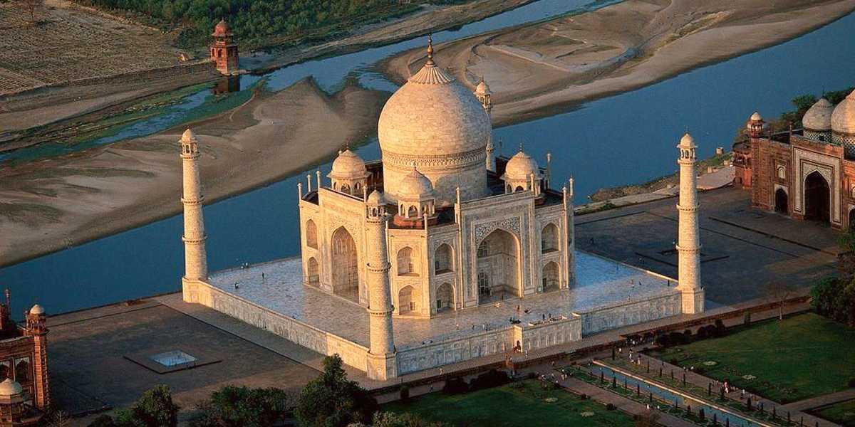El Taj Mahal en vista aérea