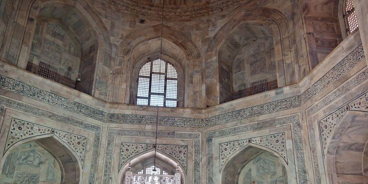 El interior del mausoleo