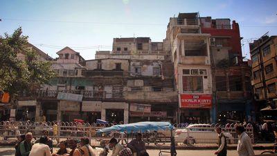 Una calle de Agra, hoy en día