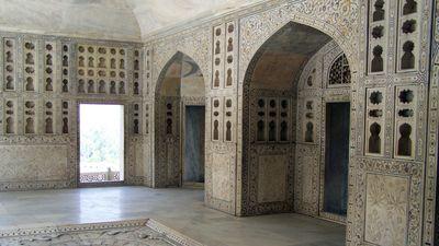 Dentro del Taj Mahal