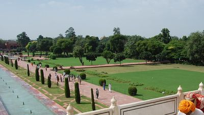 Los jardines del Taj Mahal
