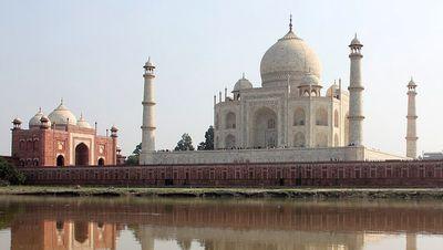 El Taj Mahal visto desde el lado norte