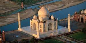 La terraza del Taj Mahal