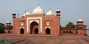 La mezquita del Taj Mahal