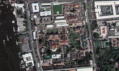Vista aérea del palacio real