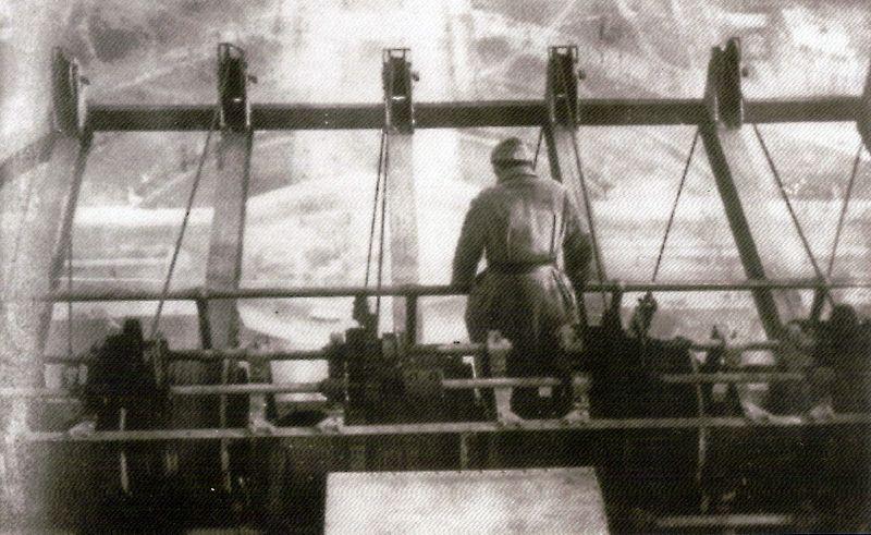 La salida de las antenas en el 3er piso