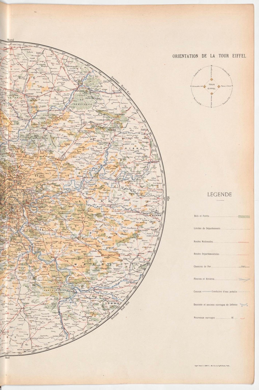 Mapa de los alrededores de París