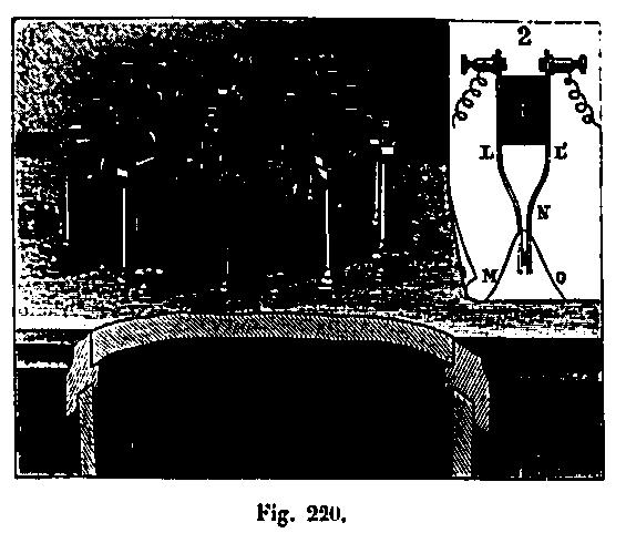 Diagrama del aparato para medir la caída de los cuerpos