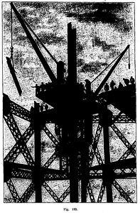 Grúa torre de la torre Eiffel