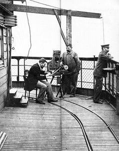 Sr. Ducretet durante el primer enlace de radio