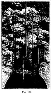Plataforma meteorológica de la Torre Eiffel en el siglo XIX.