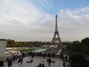 La torre y los jardines de Trocadero