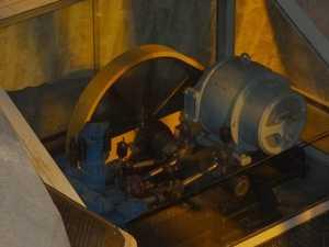 Una máquina de 1899, en exhibición.