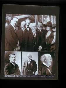 Un cartel que muestra a los ingenieros que diseñaron la Torre Eiffel.