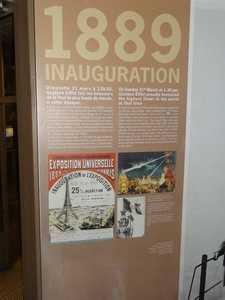 Panel explicativo de la inauguración